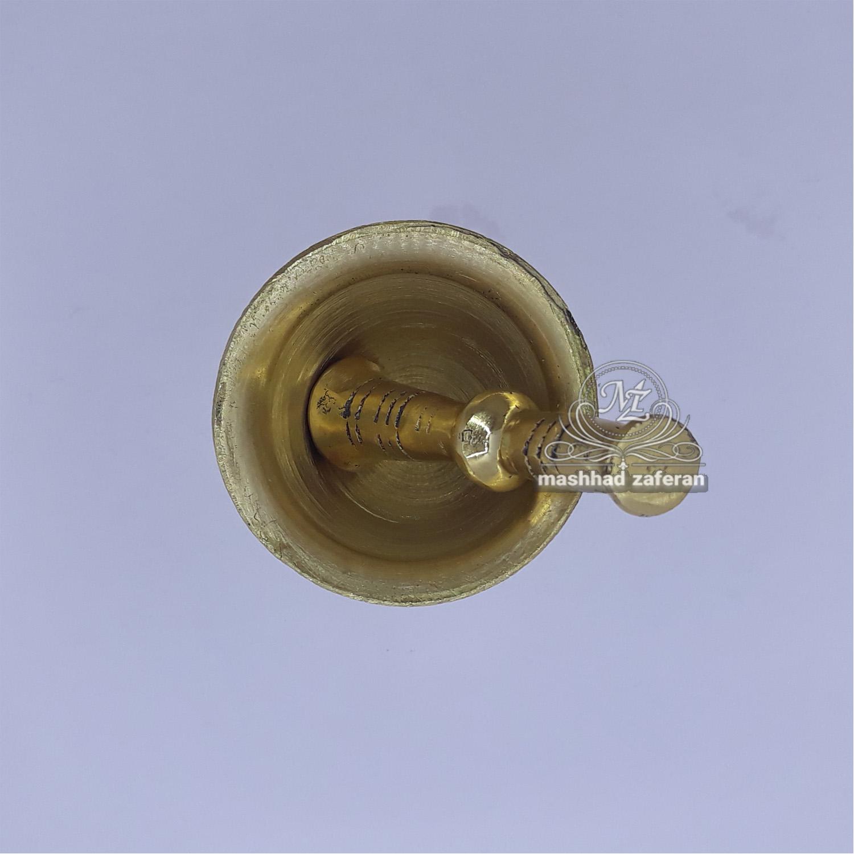 rub saffron brass footed 6