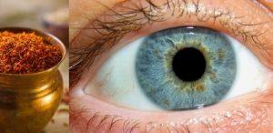 درمان چشم با زعفران