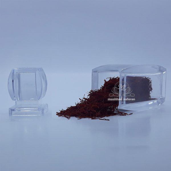 زعفران سرگل ممتاز 1 مثقالی در ظرف کریستال